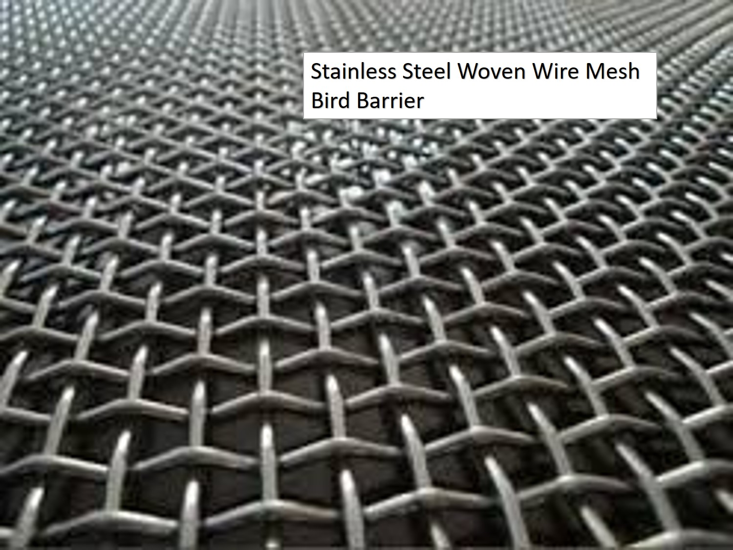 Stainless Steel Woven Wire Mesh Bird Barrier